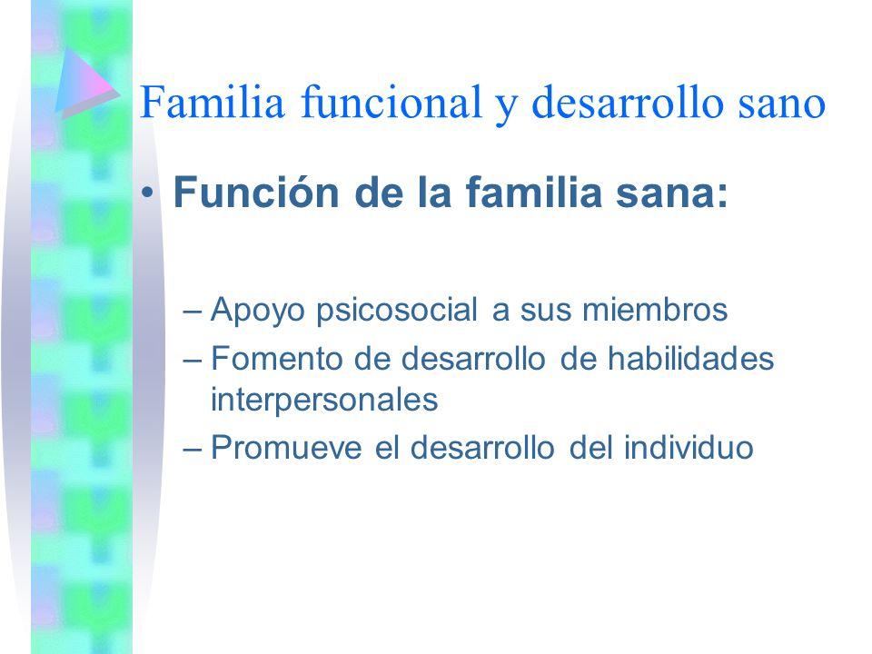 Familia funcional y desarrollo sano