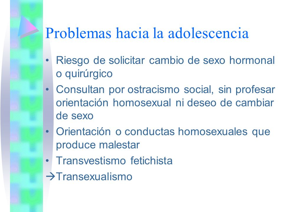 Problemas hacia la adolescencia