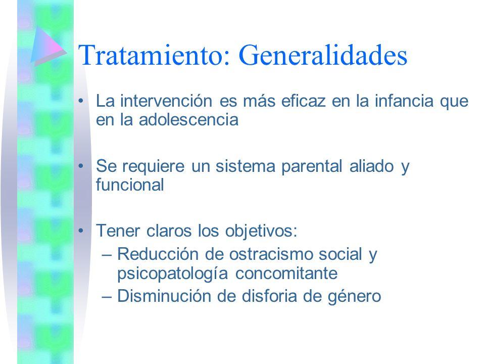 Tratamiento: Generalidades