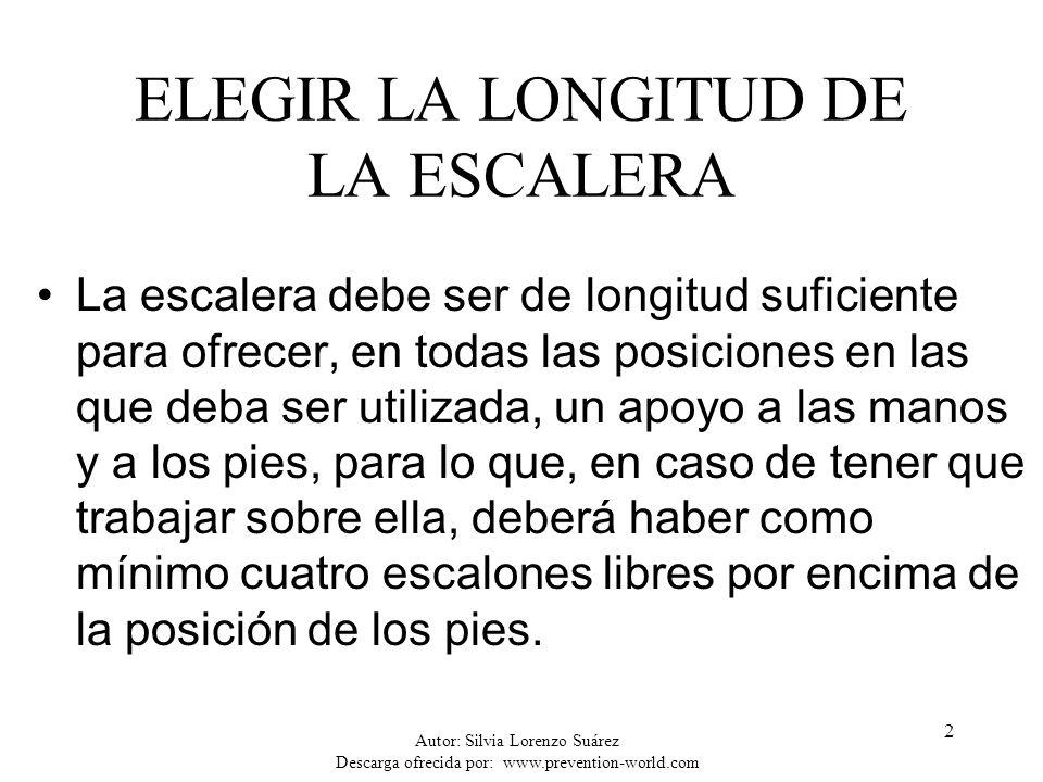ELEGIR LA LONGITUD DE LA ESCALERA