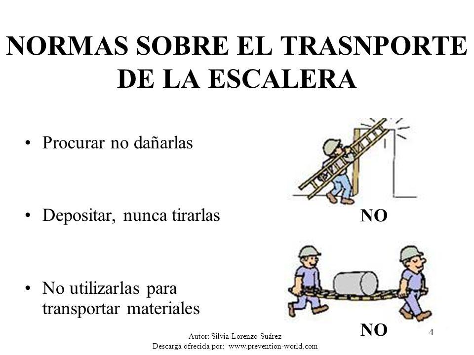 NORMAS SOBRE EL TRASNPORTE DE LA ESCALERA