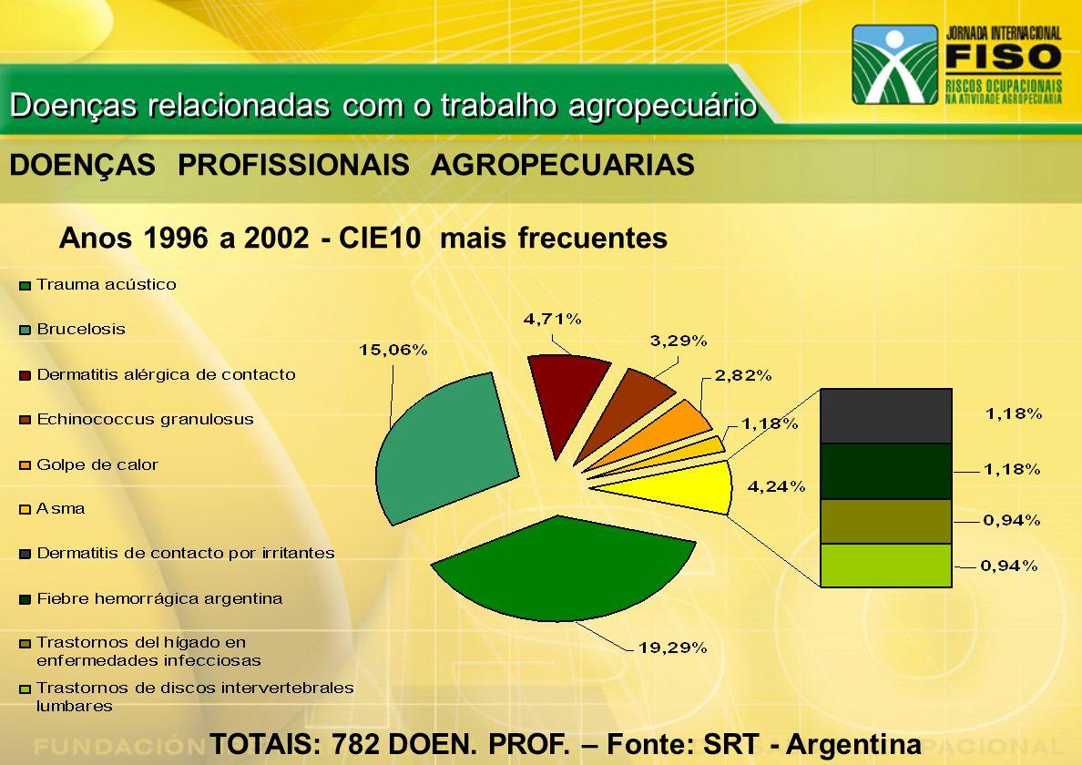 TOTAIS: 782 DOEN. PROF. – Fonte: SRT - Argentina