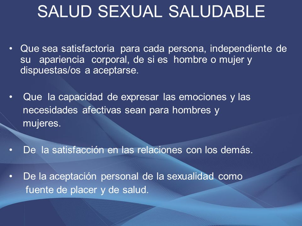 SALUD SEXUAL SALUDABLE