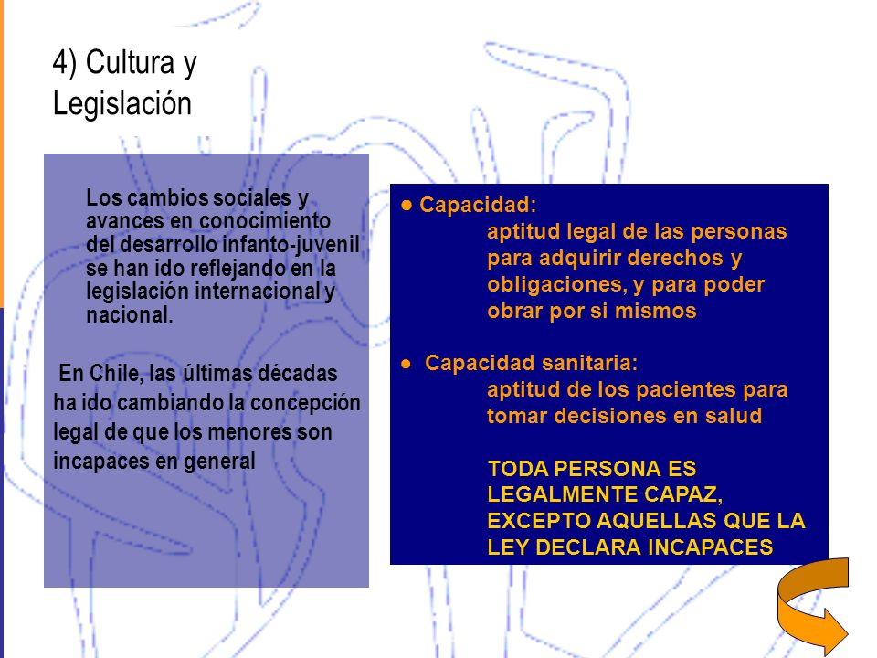 4) Cultura y Legislación