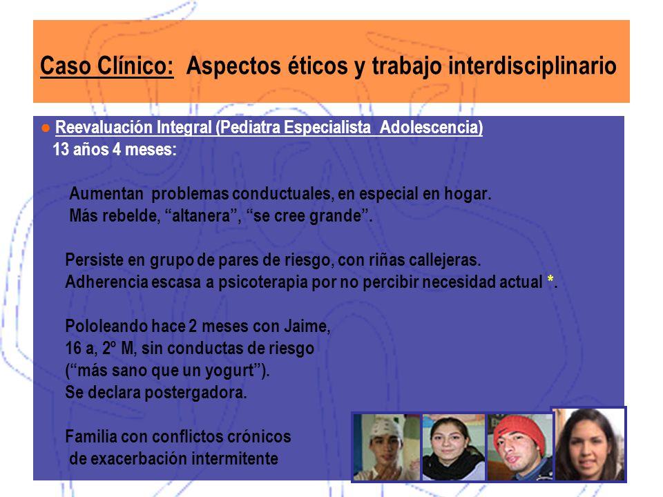 Caso Clínico: Aspectos éticos y trabajo interdisciplinario