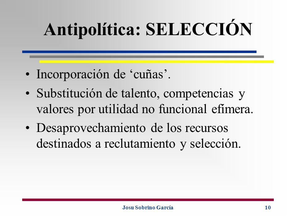 Antipolítica: SELECCIÓN