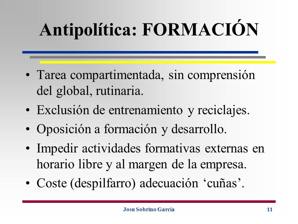 Antipolítica: FORMACIÓN