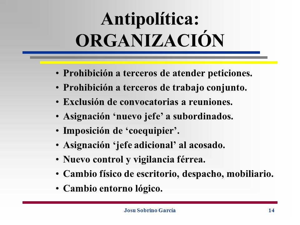 Antipolítica: ORGANIZACIÓN