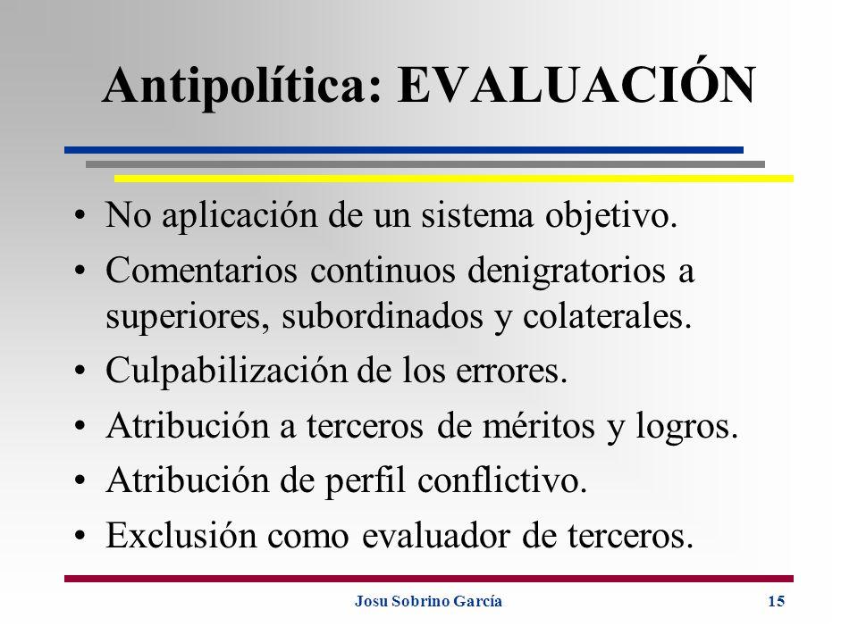Antipolítica: EVALUACIÓN