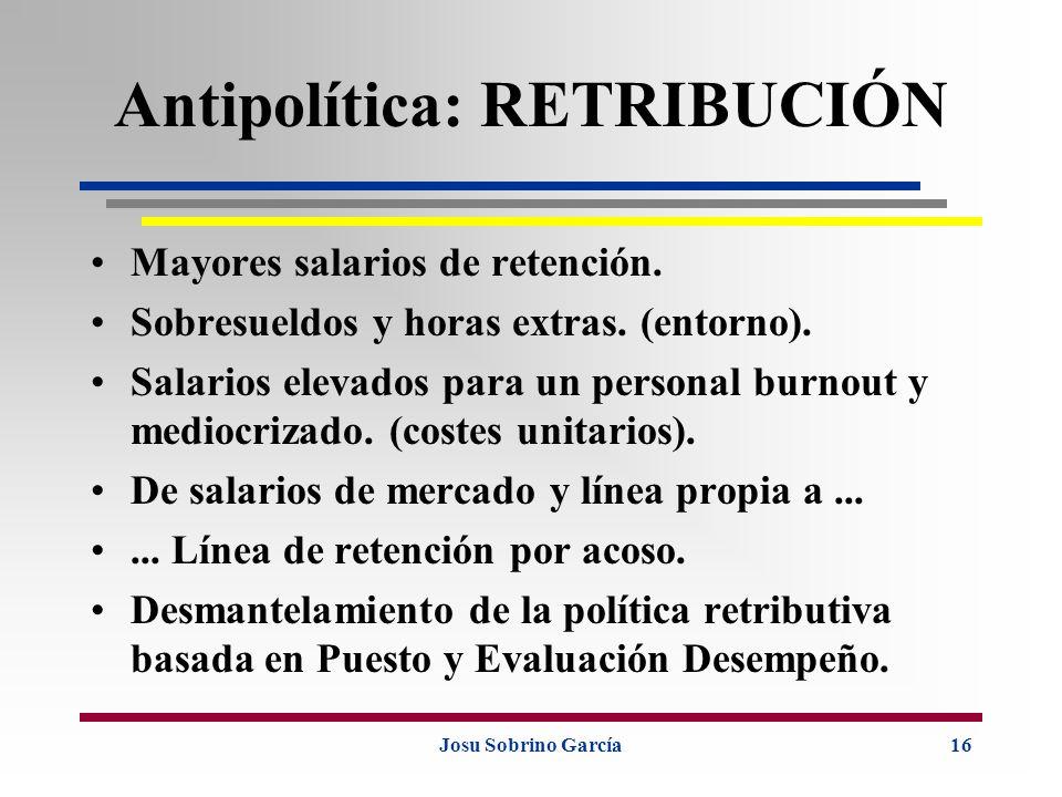 Antipolítica: RETRIBUCIÓN