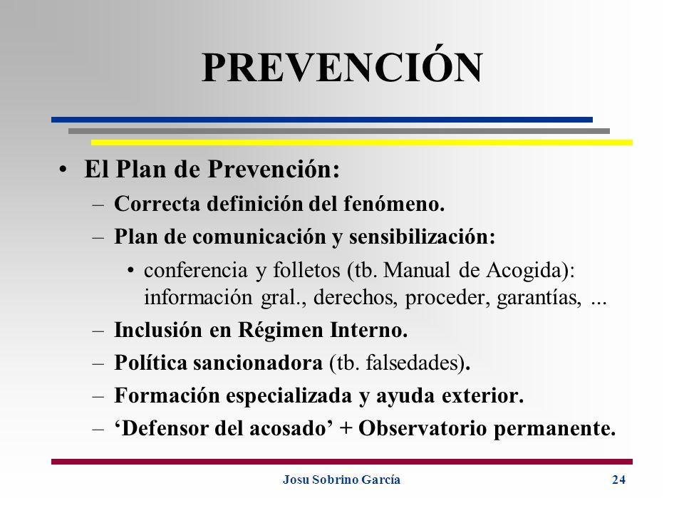 PREVENCIÓN El Plan de Prevención: Correcta definición del fenómeno.