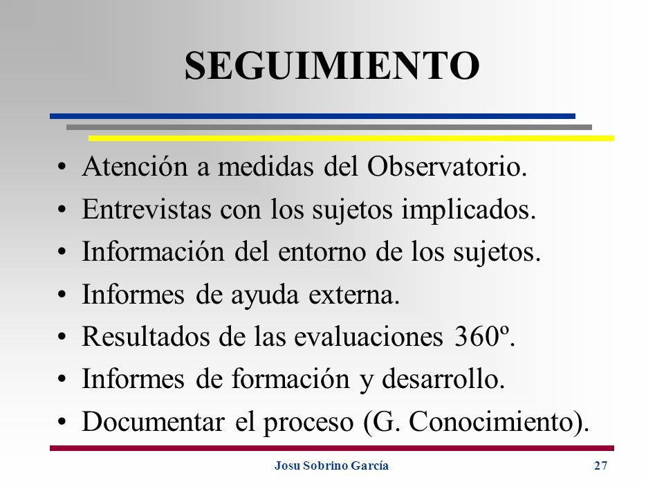 SEGUIMIENTO Atención a medidas del Observatorio.