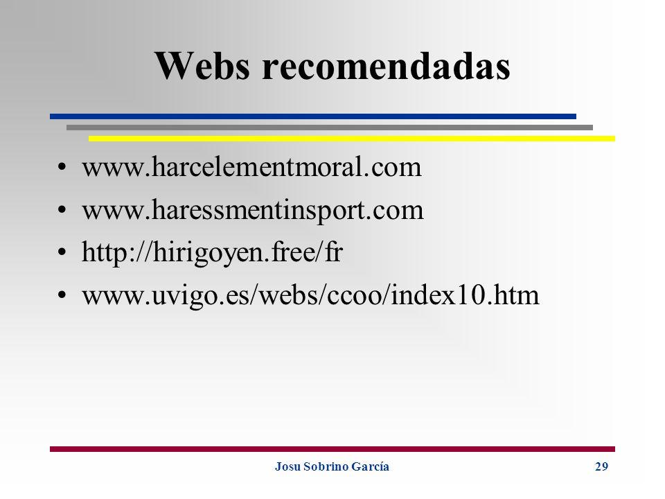 Webs recomendadas www.harcelementmoral.com www.haressmentinsport.com