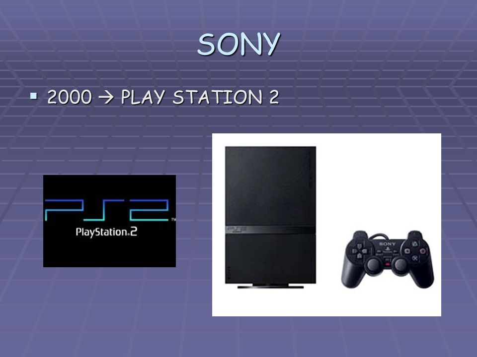 SONY 2000  PLAY STATION 2