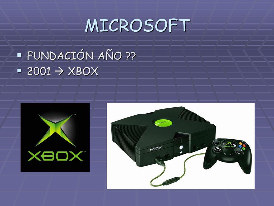 MICROSOFT FUNDACIÓN AÑO 2001  XBOX
