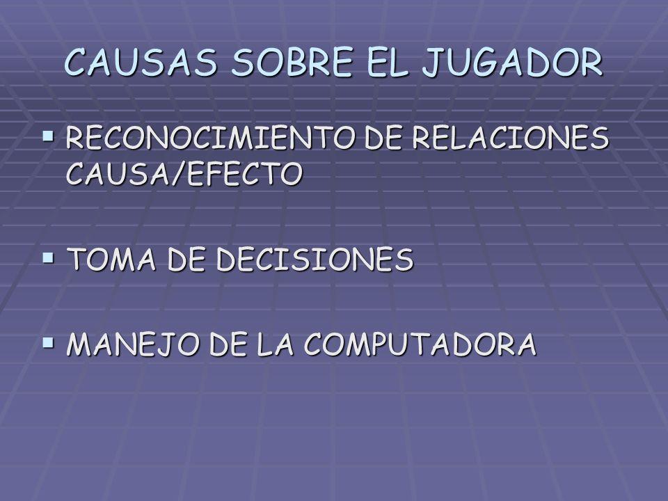 CAUSAS SOBRE EL JUGADOR