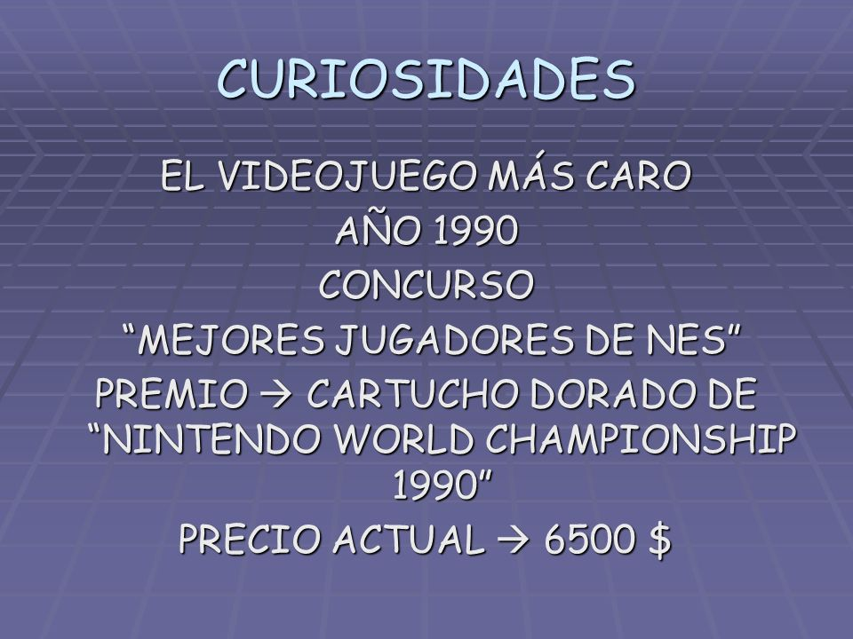CURIOSIDADES EL VIDEOJUEGO MÁS CARO AÑO 1990 CONCURSO