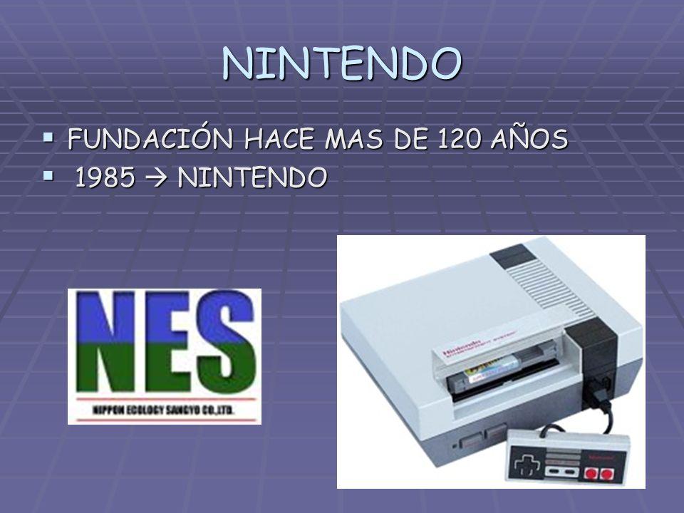 NINTENDO FUNDACIÓN HACE MAS DE 120 AÑOS 1985  NINTENDO