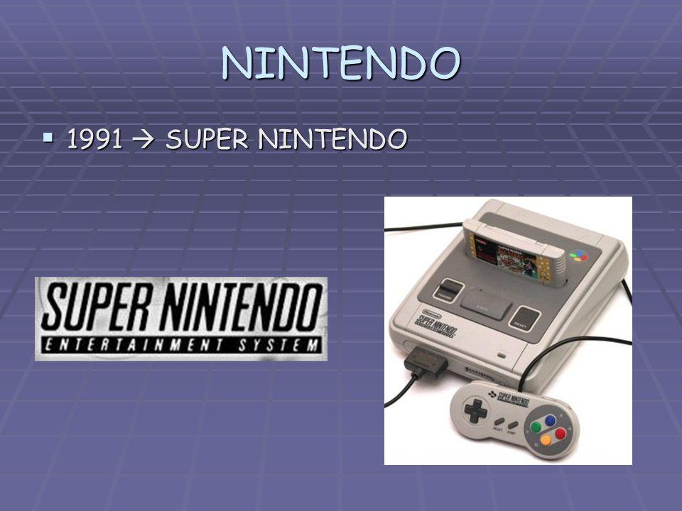 NINTENDO 1991  SUPER NINTENDO