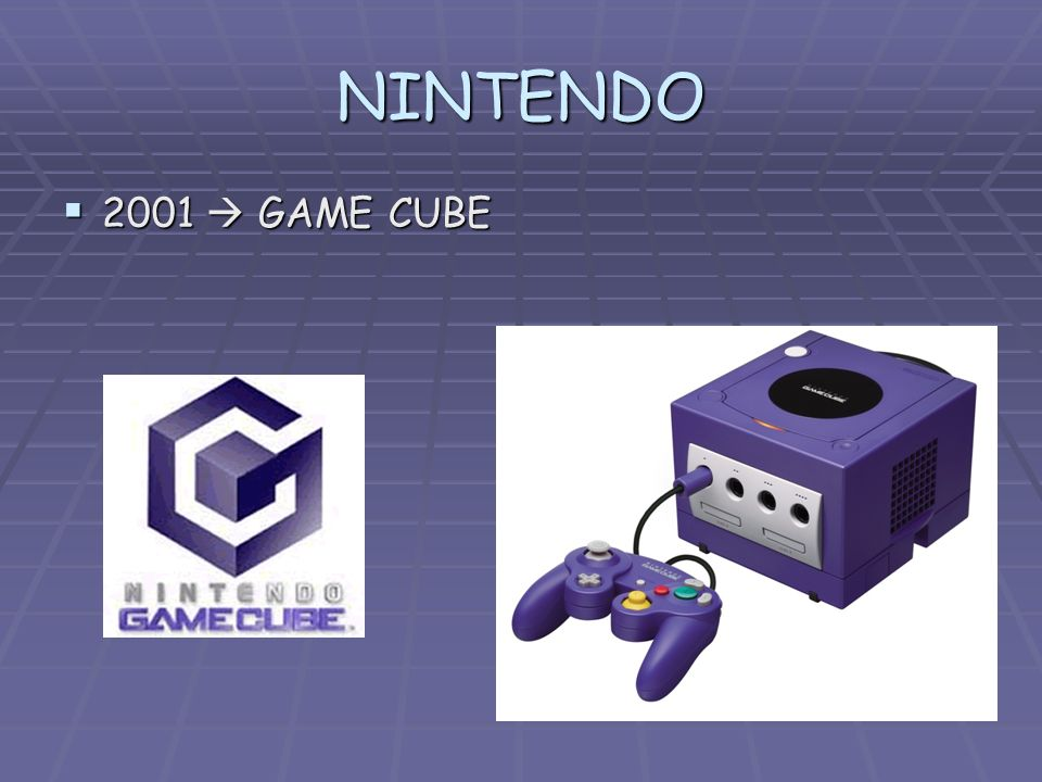 NINTENDO 2001  GAME CUBE