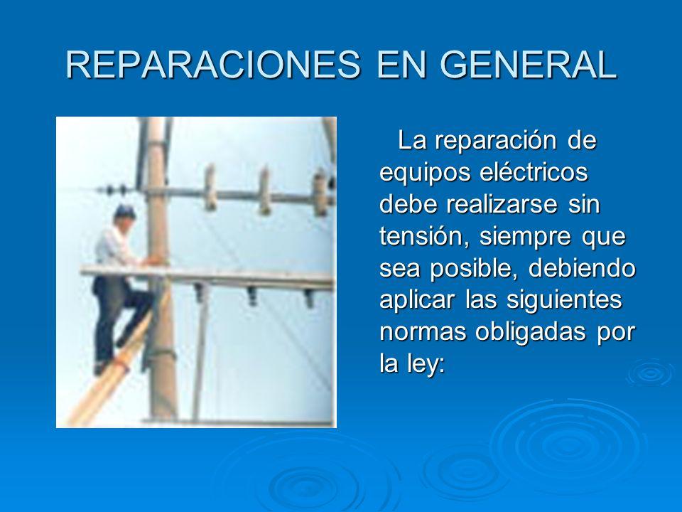 REPARACIONES EN GENERAL