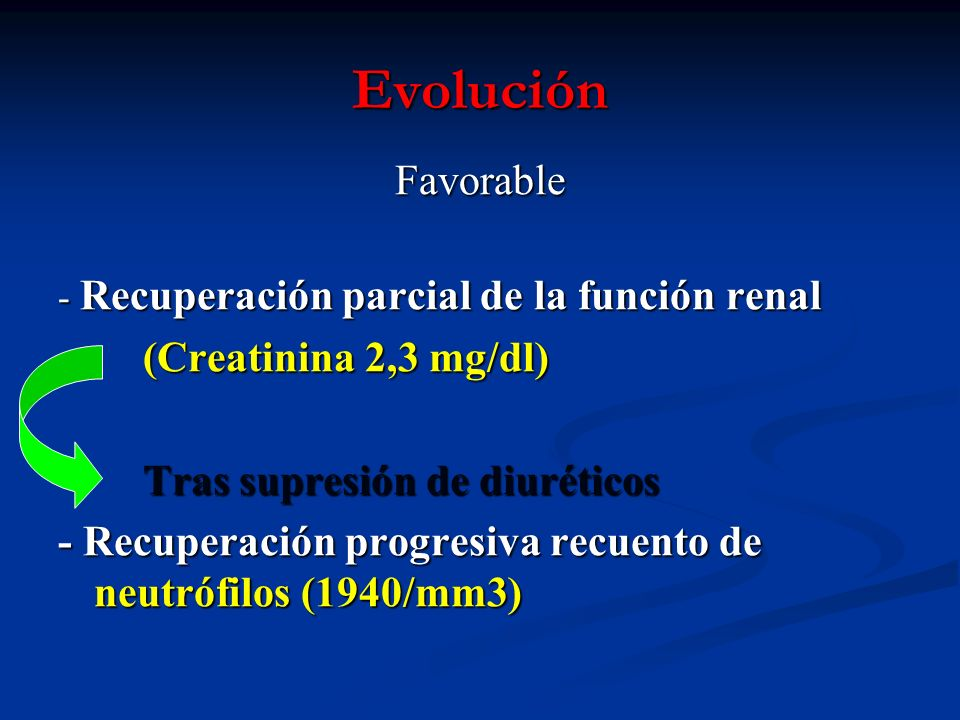 Evolución Favorable (Creatinina 2,3 mg/dl)