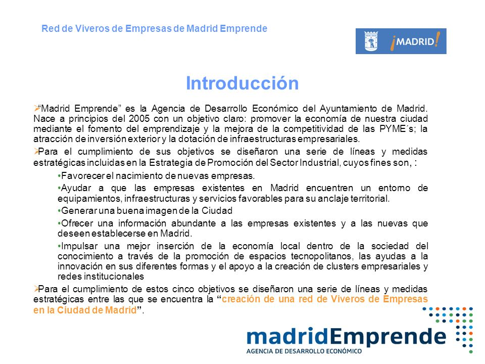 red de viveros de empresa ppt descargar