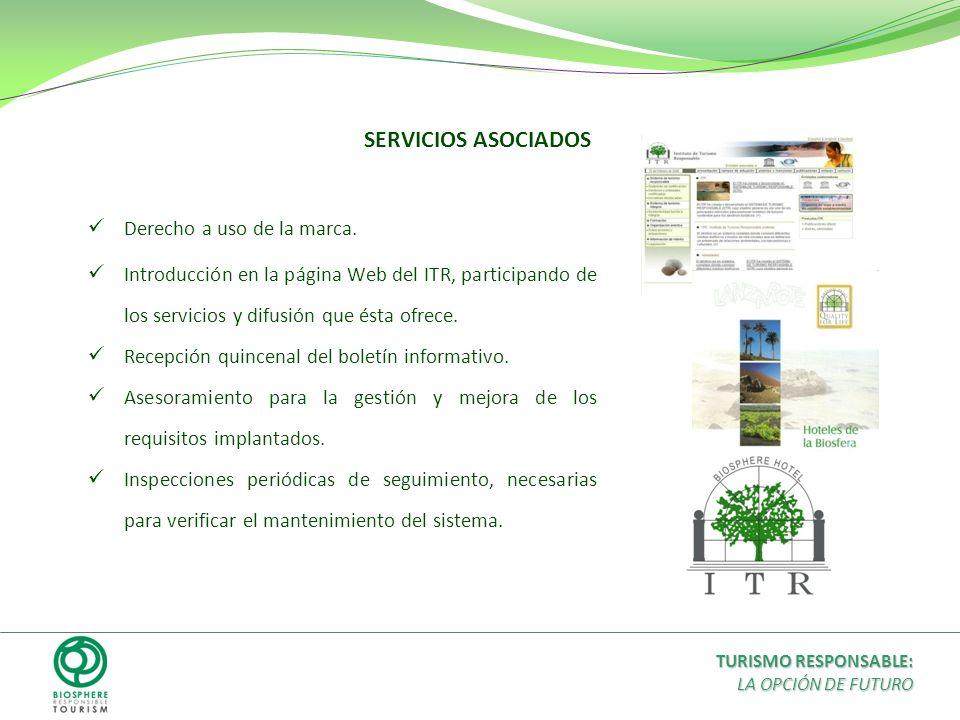 SERVICIOS ASOCIADOS Derecho a uso de la marca.