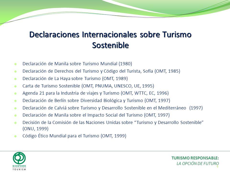 Declaraciones Internacionales sobre Turismo Sostenible
