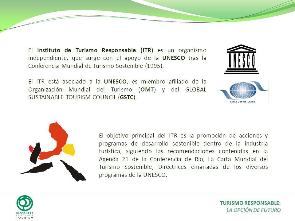 El Instituto de Turismo Responsable (ITR) es un organismo independiente, que surge con el apoyo de la UNESCO tras la Conferencia Mundial de Turismo Sostenible (1995).