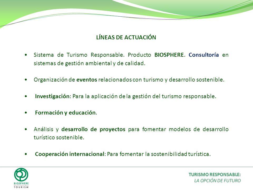 Cooperación internacional: Para fomentar la sostenibilidad turística.