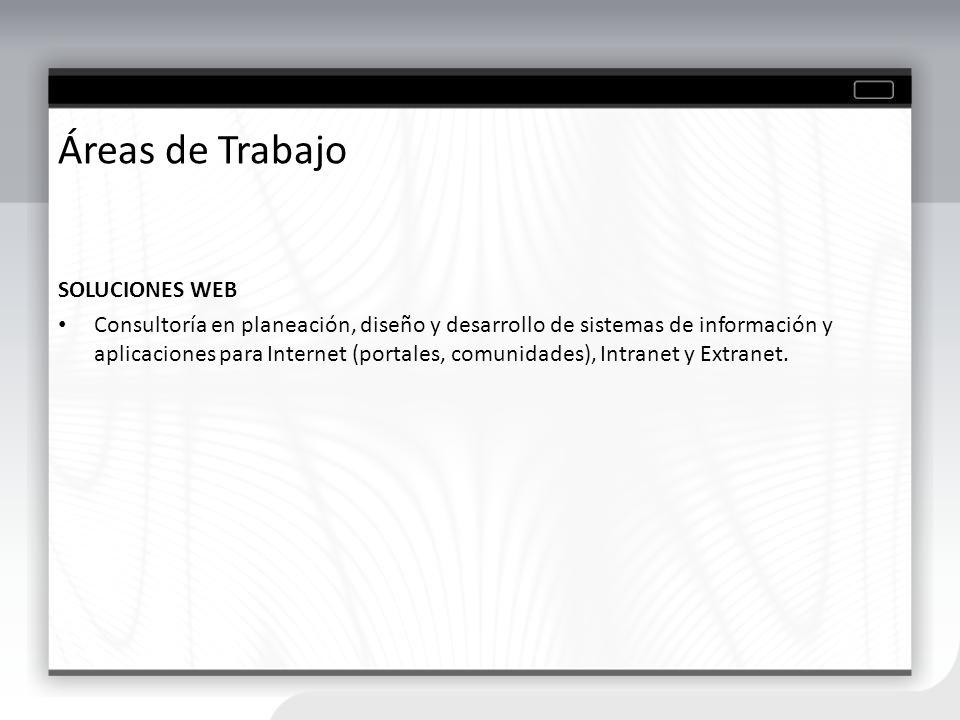 Áreas de Trabajo SOLUCIONES WEB