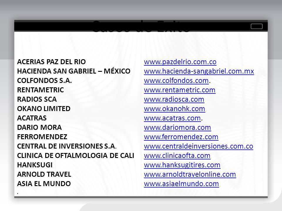 Casos de Exito ACERIAS PAZ DEL RIO www.pazdelrio.com.co