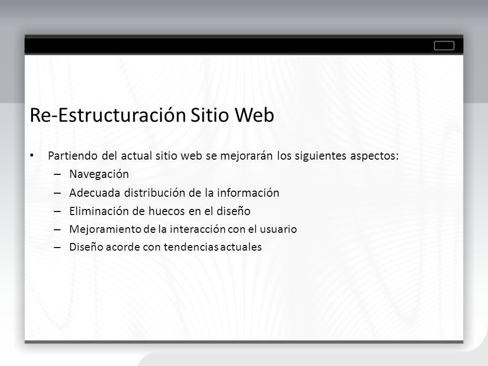 Re-Estructuración Sitio Web
