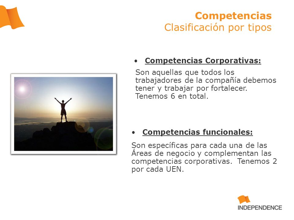 Competencias Clasificación por tipos