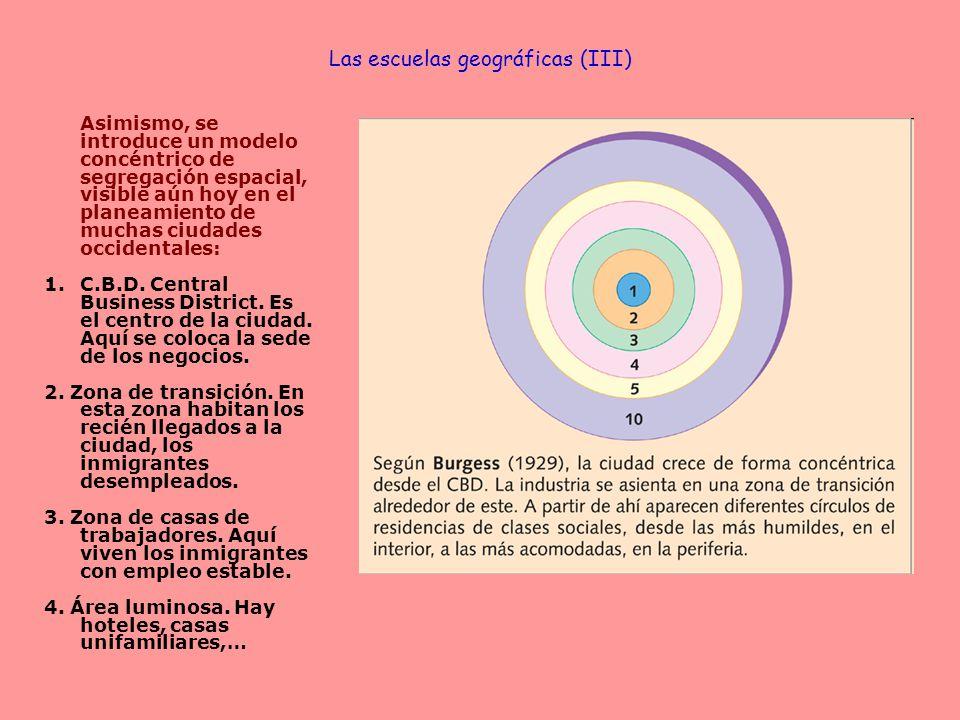 Las escuelas geográficas (III)