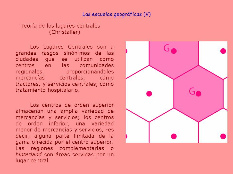 Las escuelas geográficas (V)