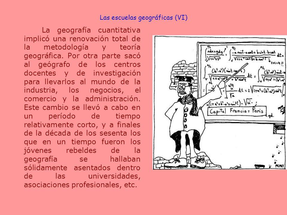 Las escuelas geográficas (VI)