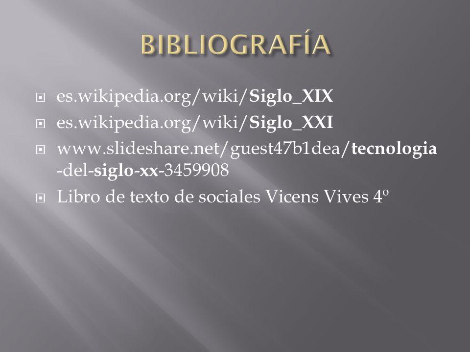 BIBLIOGRAFÍA es.wikipedia.org/wiki/Siglo_XIX