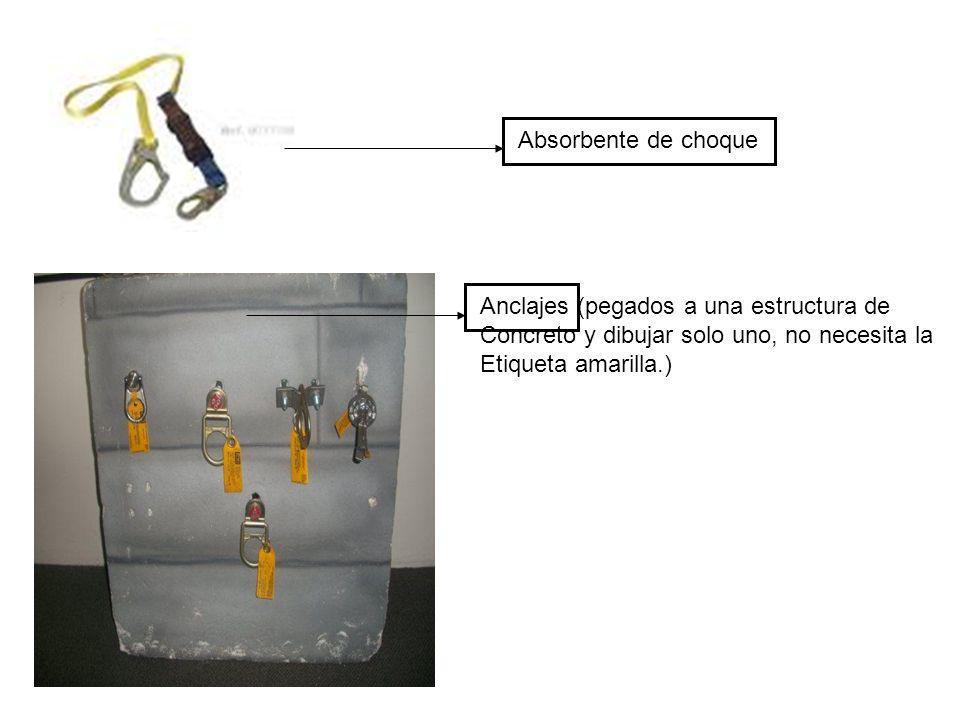 Absorbente de choque Anclajes (pegados a una estructura de. Concreto y dibujar solo uno, no necesita la.