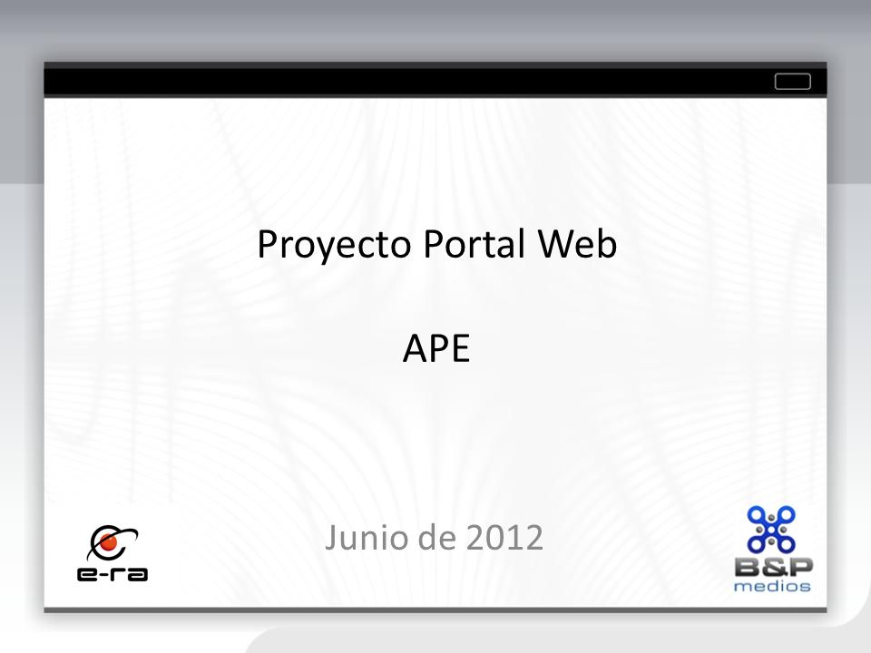 Proyecto Portal Web APE