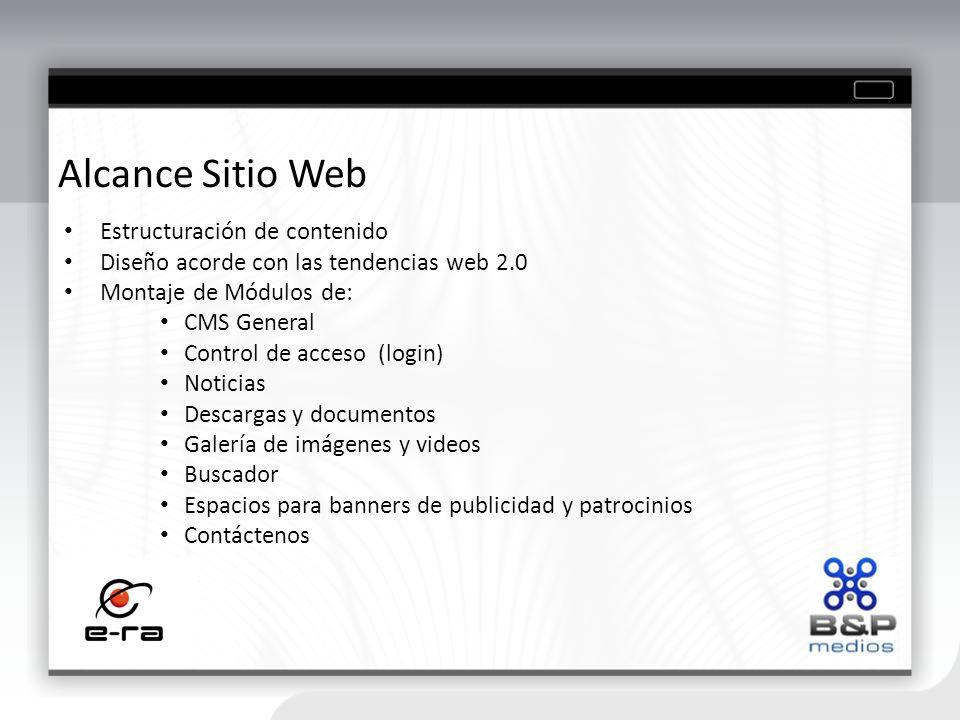 Alcance Sitio Web Estructuración de contenido