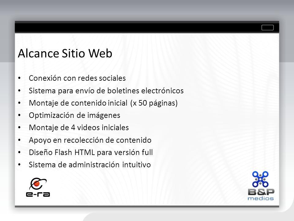 Alcance Sitio Web Conexión con redes sociales