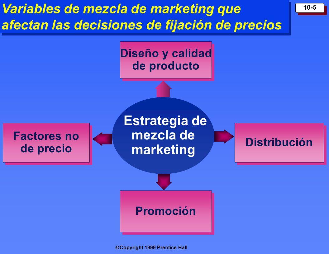Diseño y calidad de producto Estrategia de mezcla de marketing