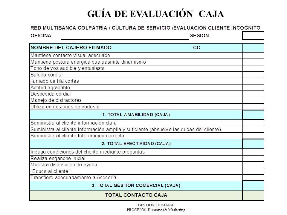 GUÍA DE EVALUACIÓN CAJA