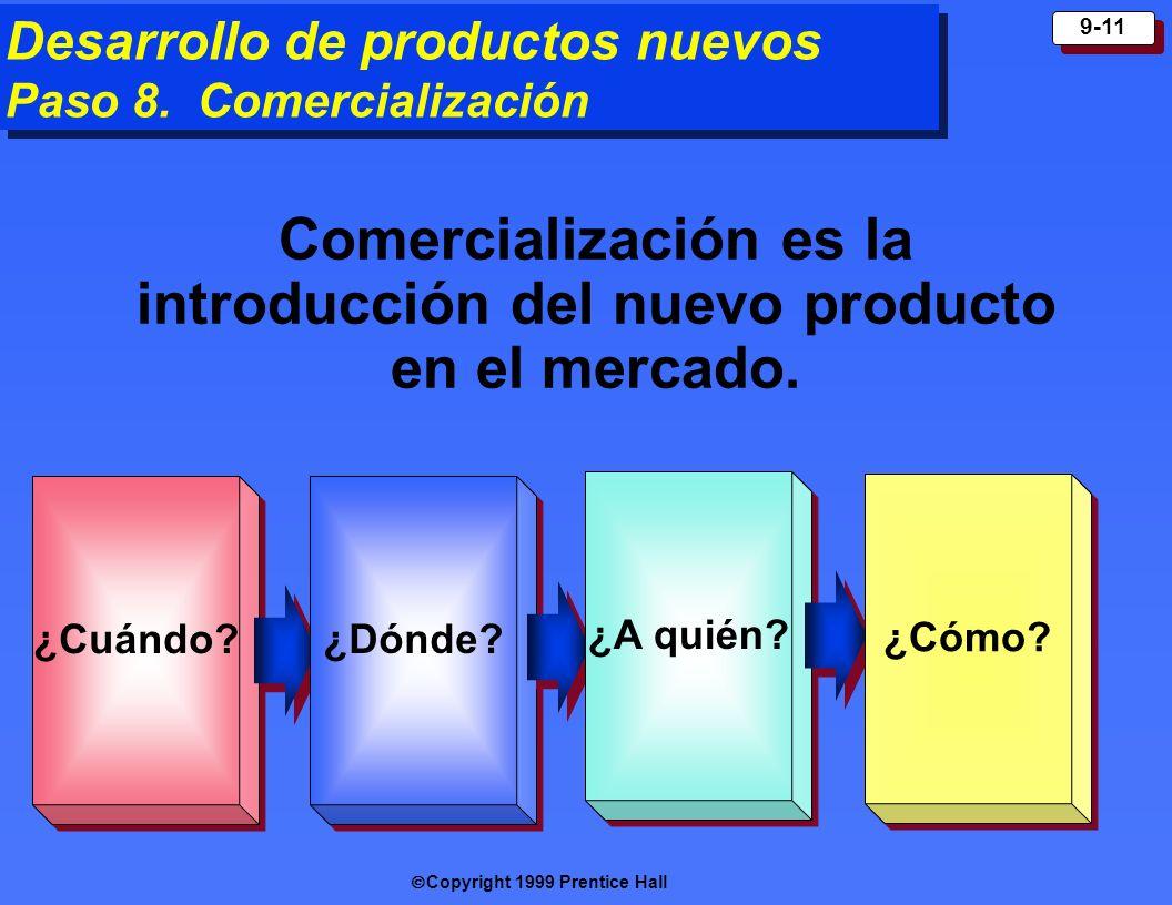 Comercialización es la introducción del nuevo producto en el mercado.