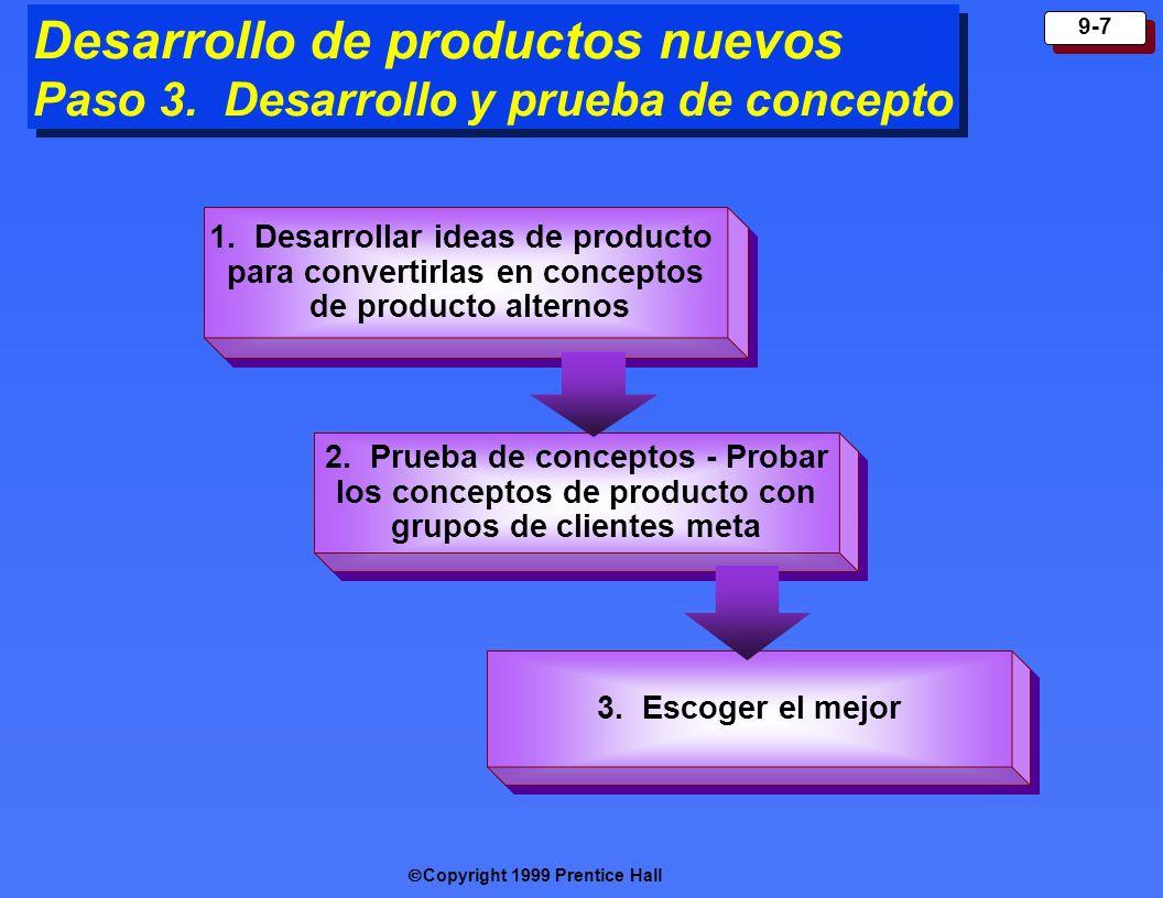 Desarrollo de productos nuevos Paso 3. Desarrollo y prueba de concepto