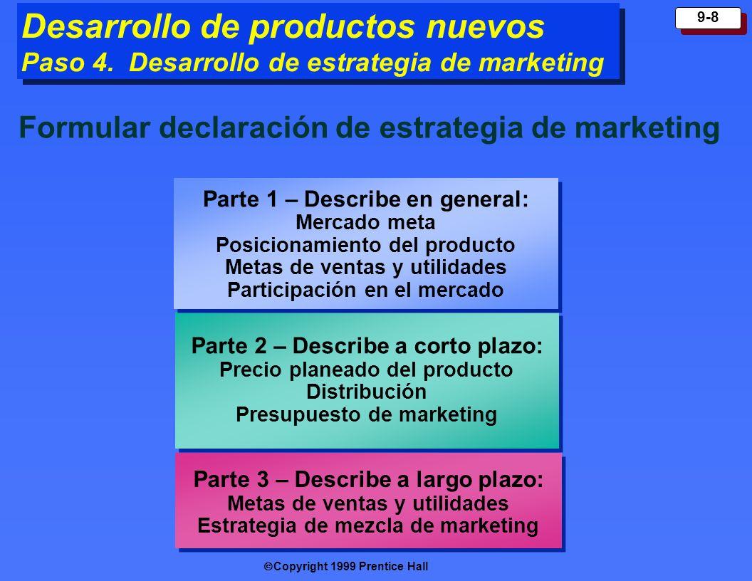 Desarrollo de productos nuevos Paso 4