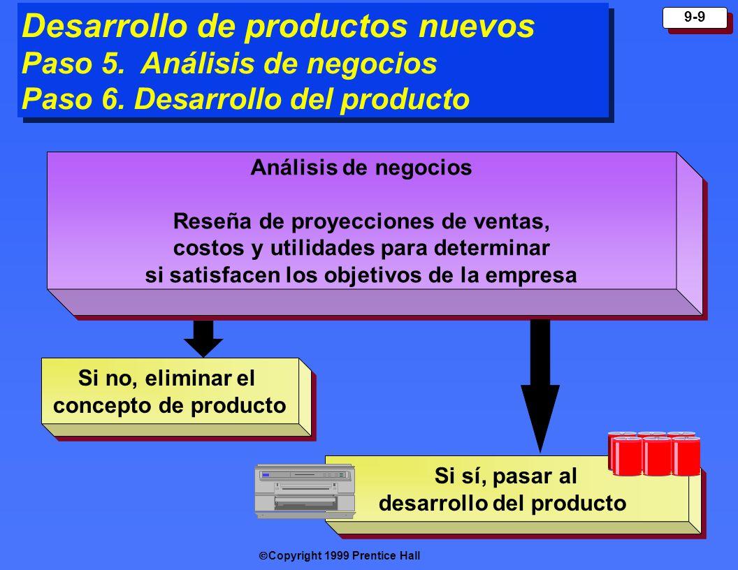 Desarrollo de productos nuevos Paso 5. Análisis de negocios