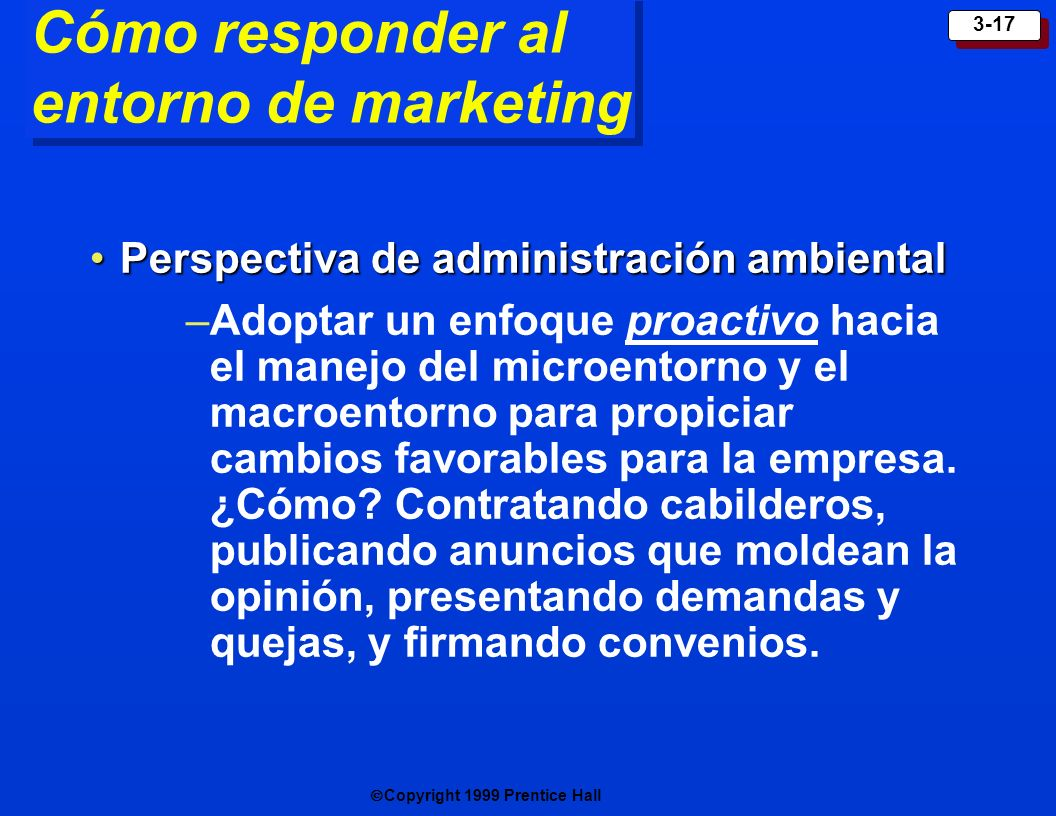 Cómo responder al entorno de marketing